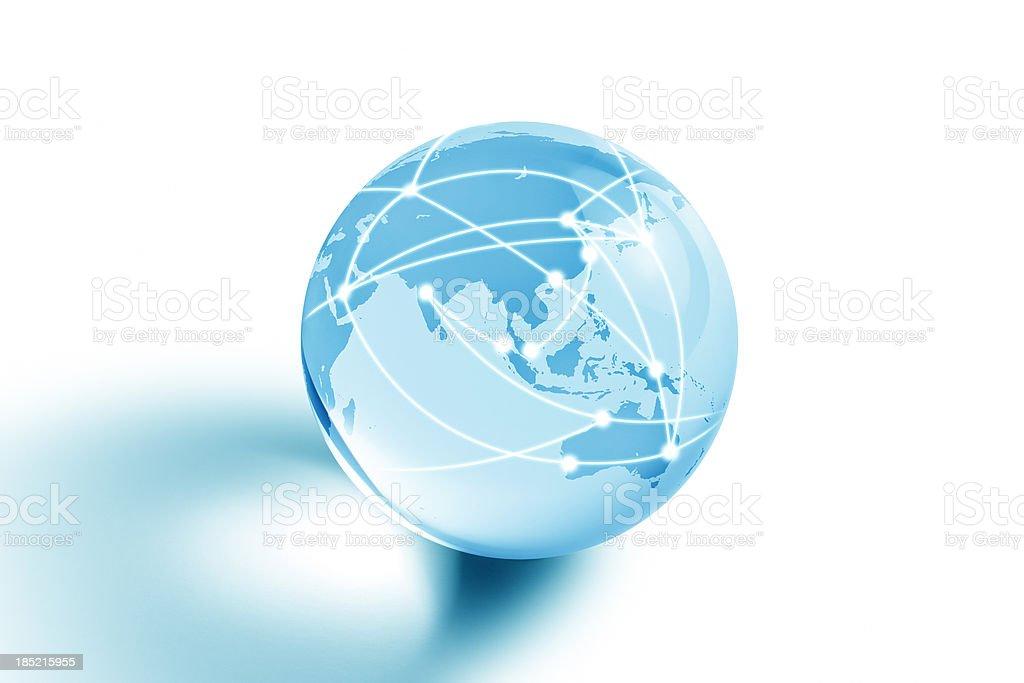 Internet Globe of America royalty-free stock photo