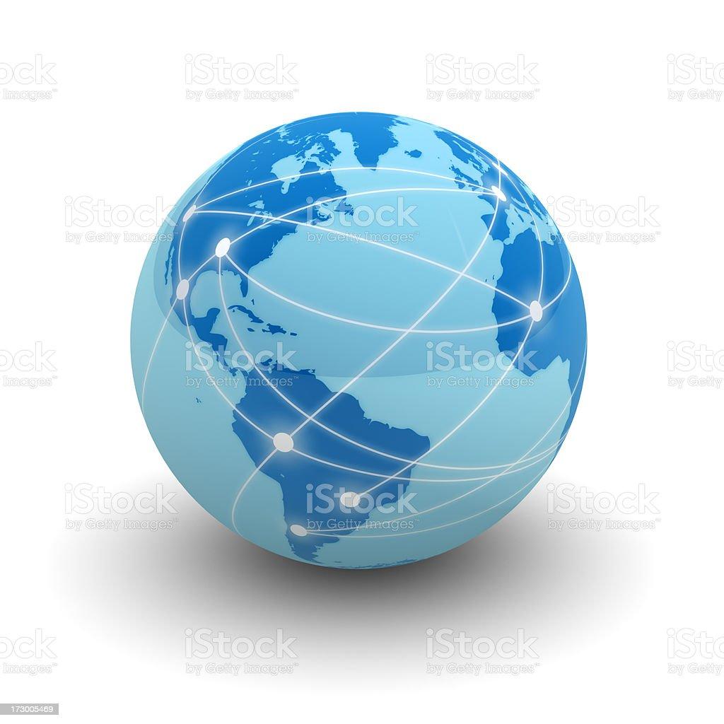 Internet globe royalty-free stock photo