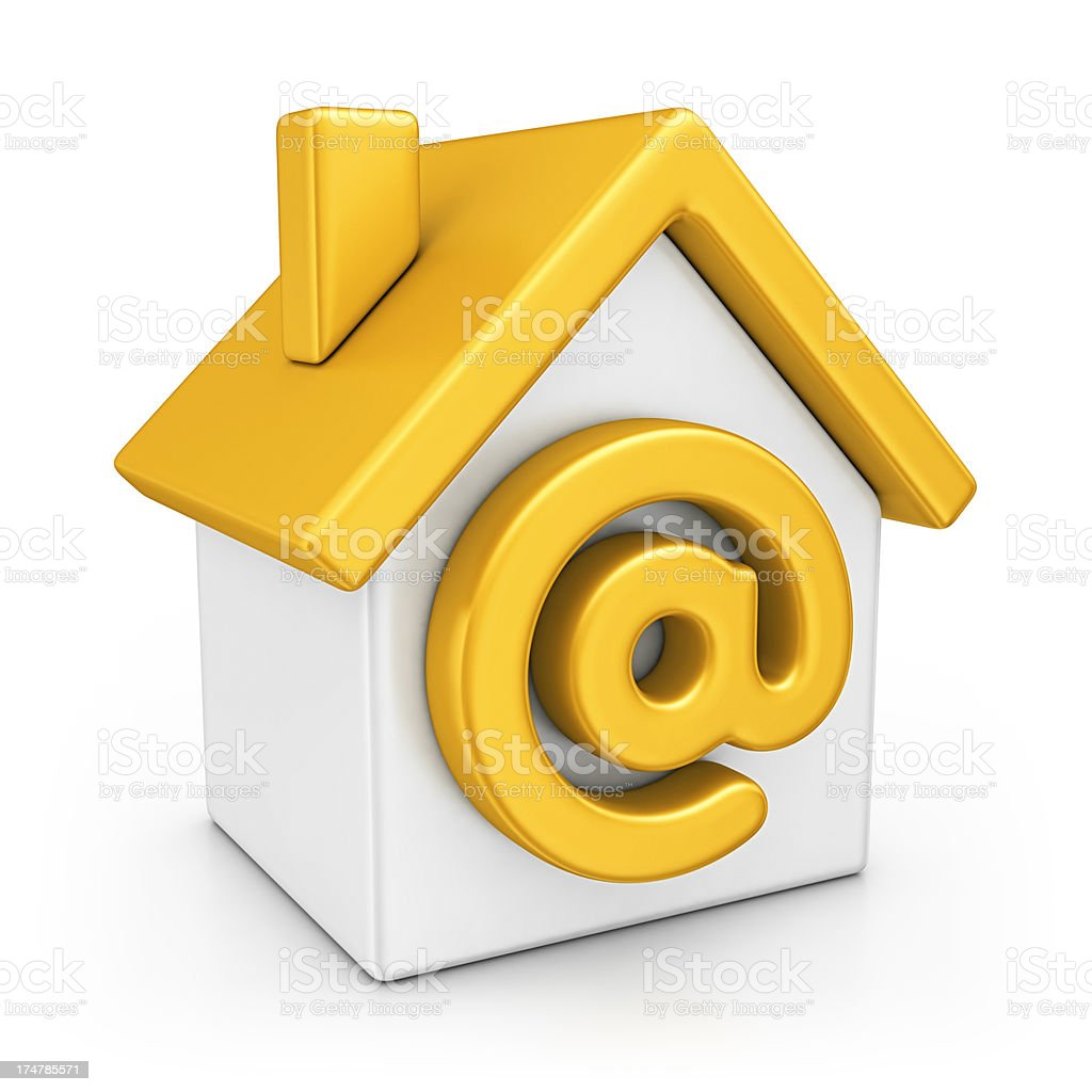 internet house royalty-free stock photo