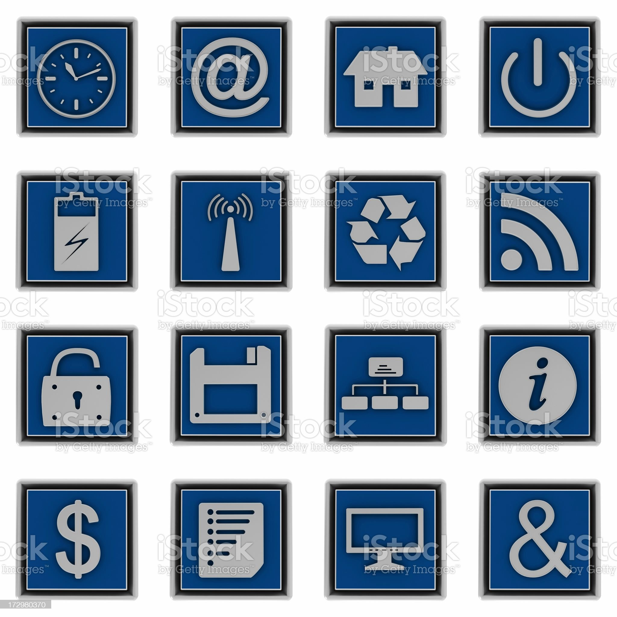 Internet icons royalty-free stock photo