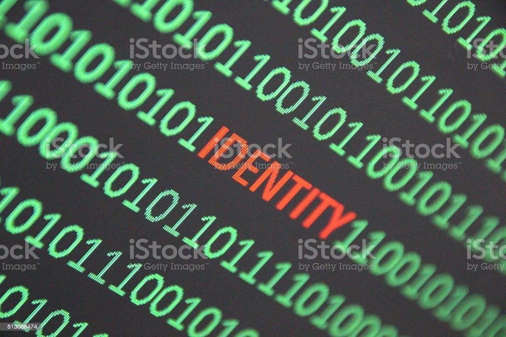 Internet identity stock photo