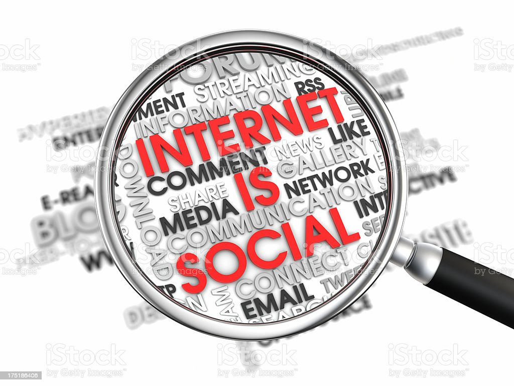 Internet is Social XL+ stock photo
