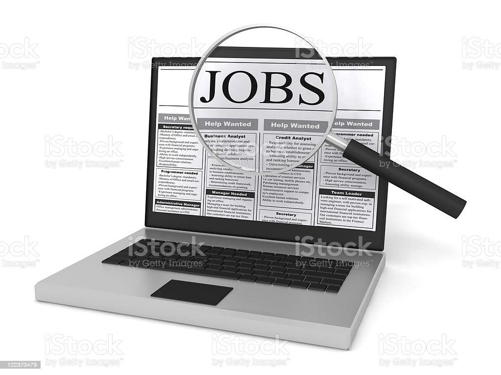 Internet Job Search royalty-free stock photo