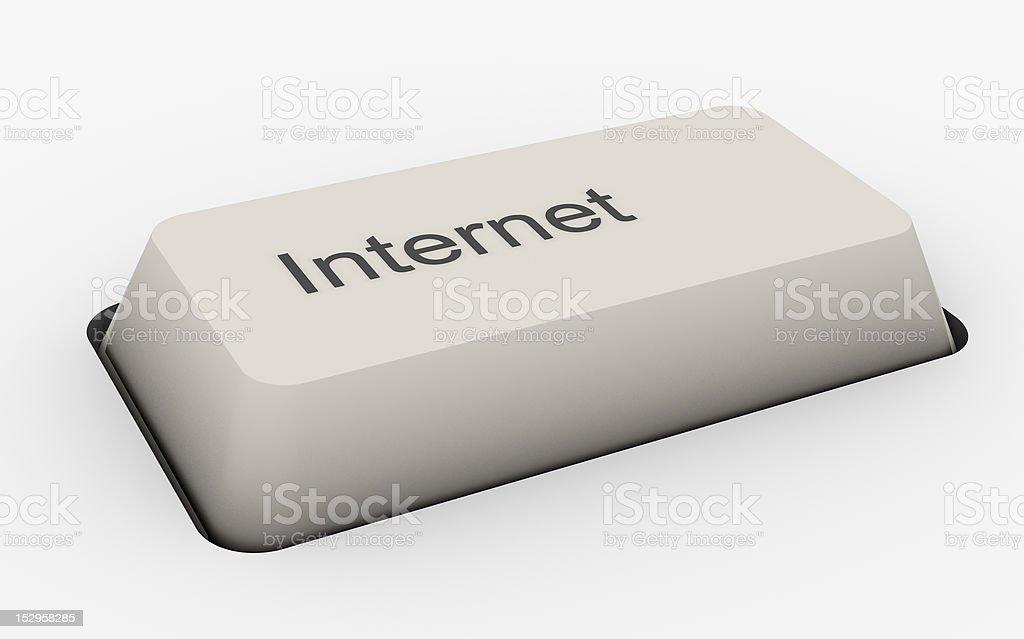 Internet - keyboard button royalty-free stock photo