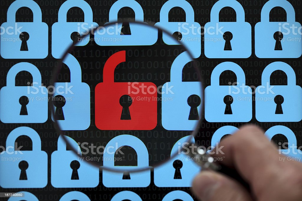 Internet lock stock photo
