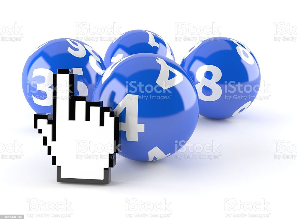 Internet lottery royalty-free stock photo