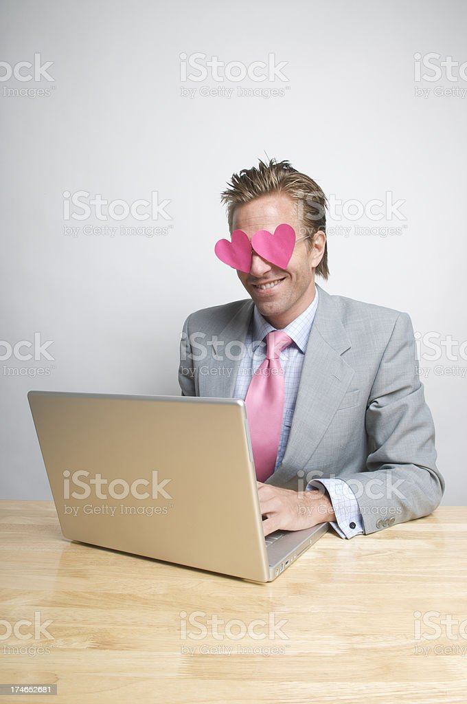 Internet Love at First Sight royalty-free stock photo
