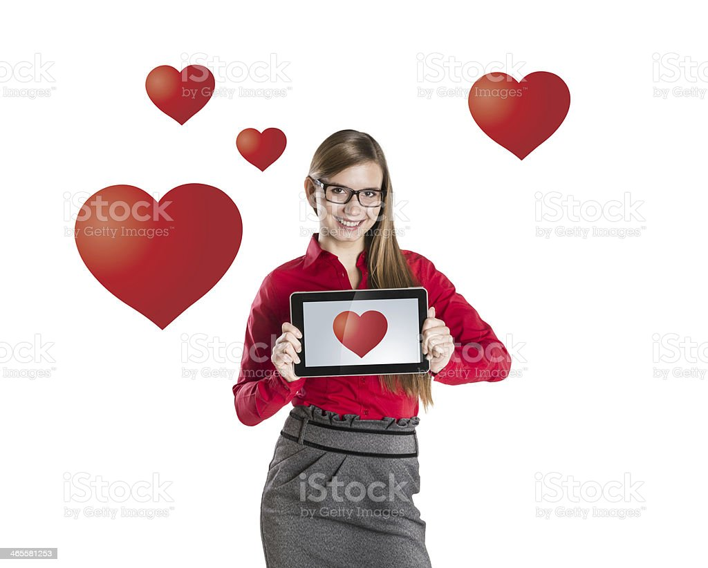 Internet love royalty-free stock photo