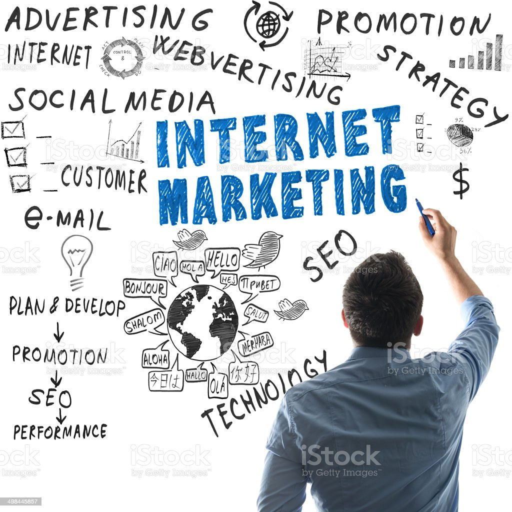 internet marketing stock photo