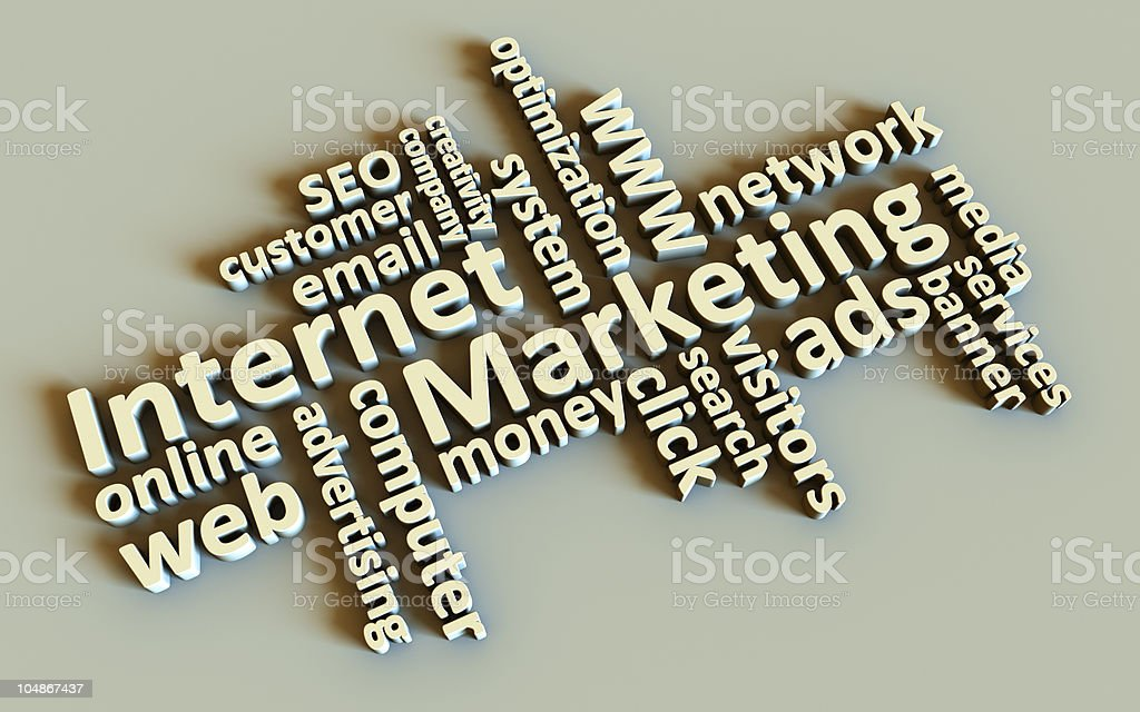 Internet Marketing Words royalty-free stock photo