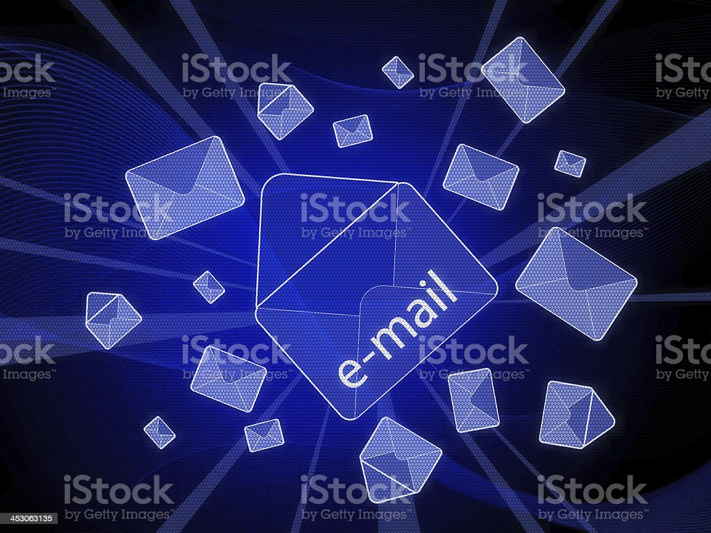 Internet Message stock photo