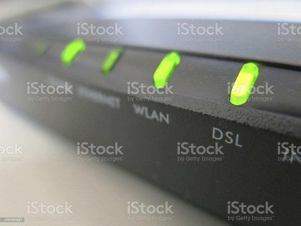 Internet modem stock photo