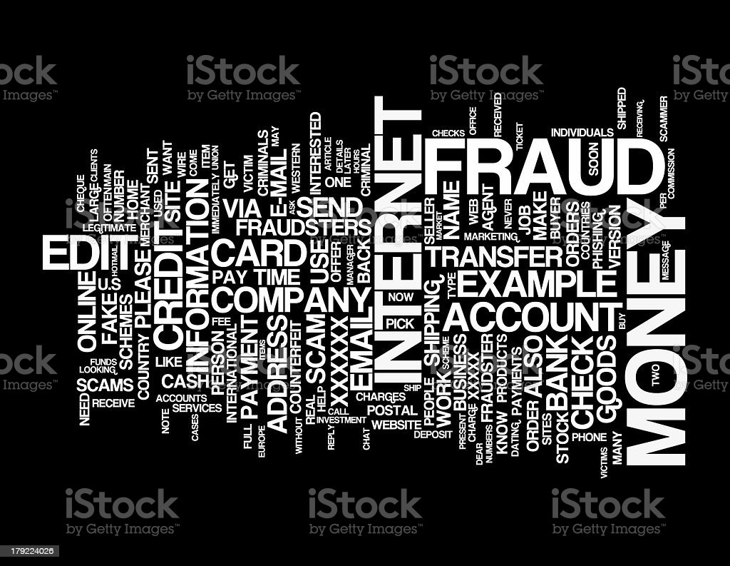 Internet Money Fraud collage concepts royalty-free stock photo