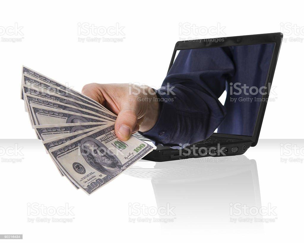 Internet money royalty-free stock photo