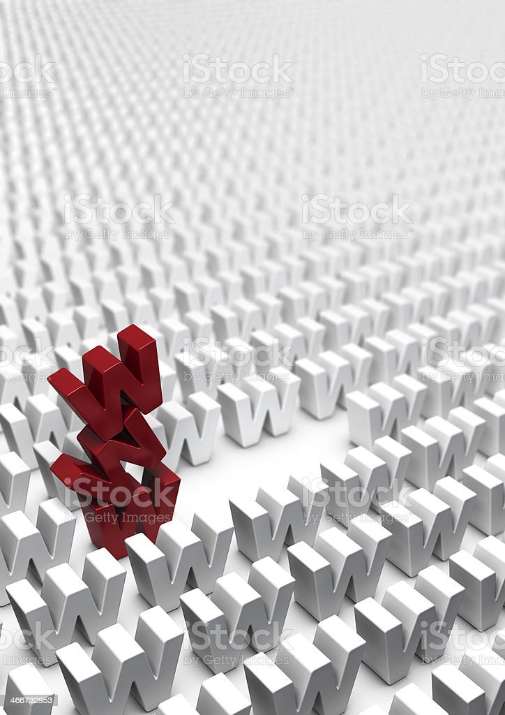 Internet Online Marketing Strategy - Webmarketing stock photo