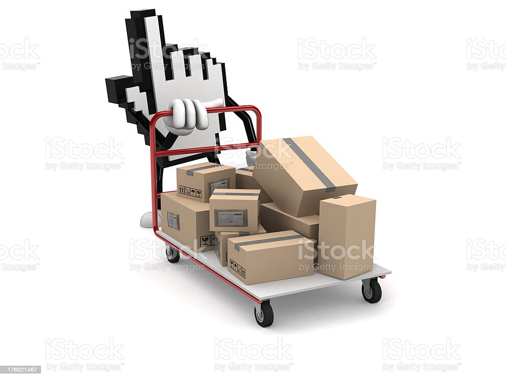 Internet packing royalty-free stock photo