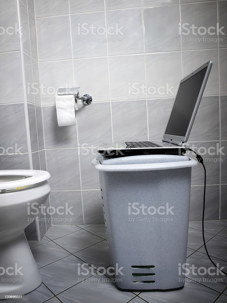 WC internet point royalty-free stock photo