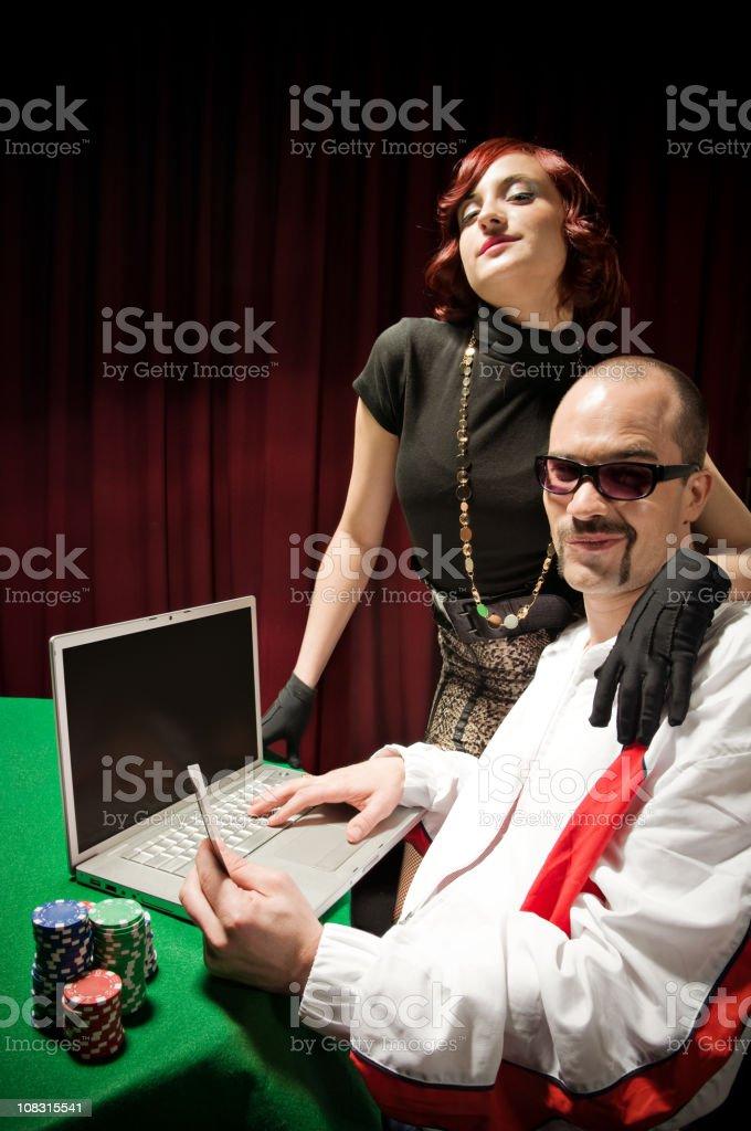 Internet Poker stock photo