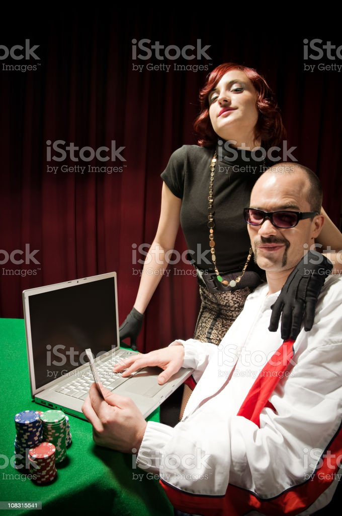 Internet Poker stock photo