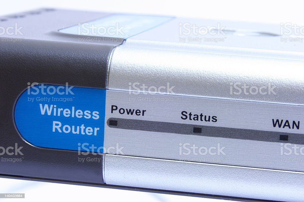 Internet router stock photo