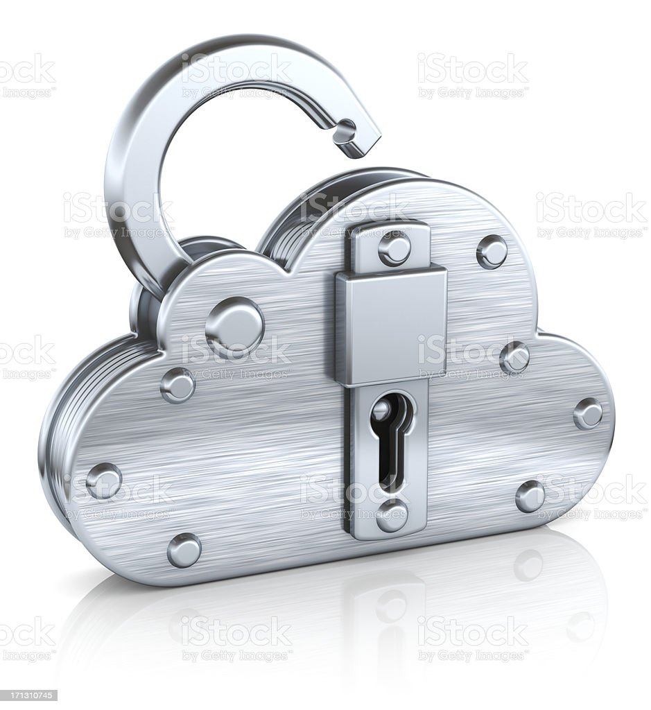 Internet security cloud padlock concept royalty-free stock photo