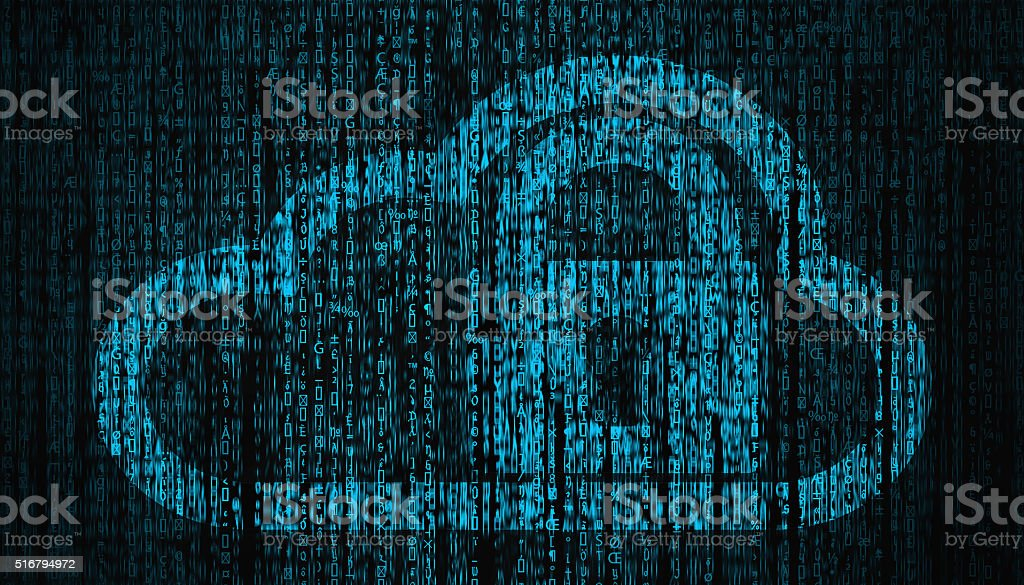 Internet Security concept with lock and cloud symbol stock photo