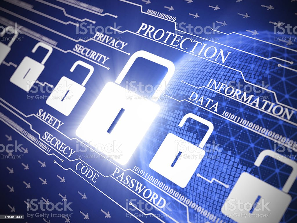 Internet security digital illustration royalty-free stock photo
