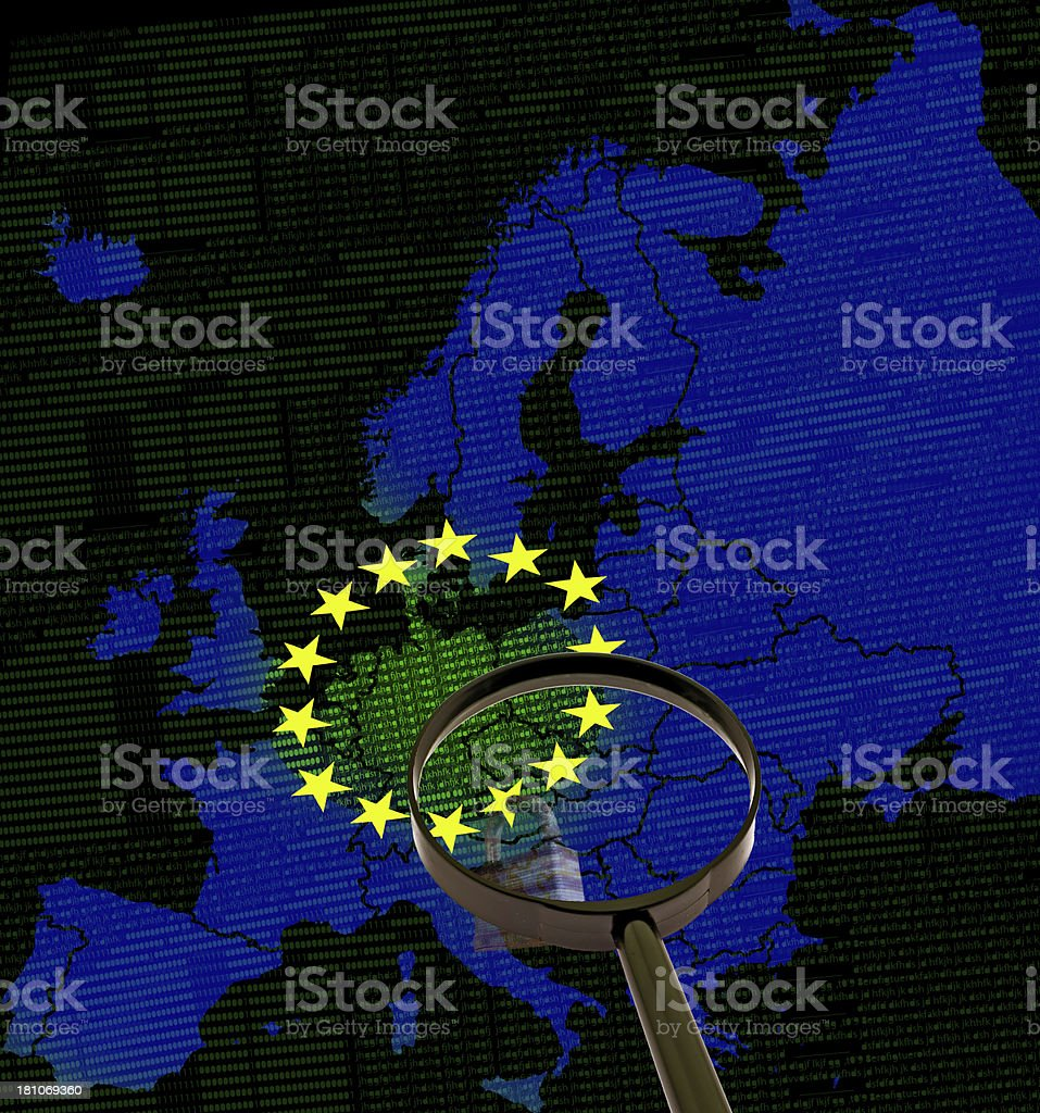 Internet Security in Europa royalty-free stock photo