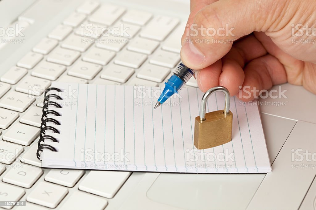 Internet security notes. royalty-free stock photo