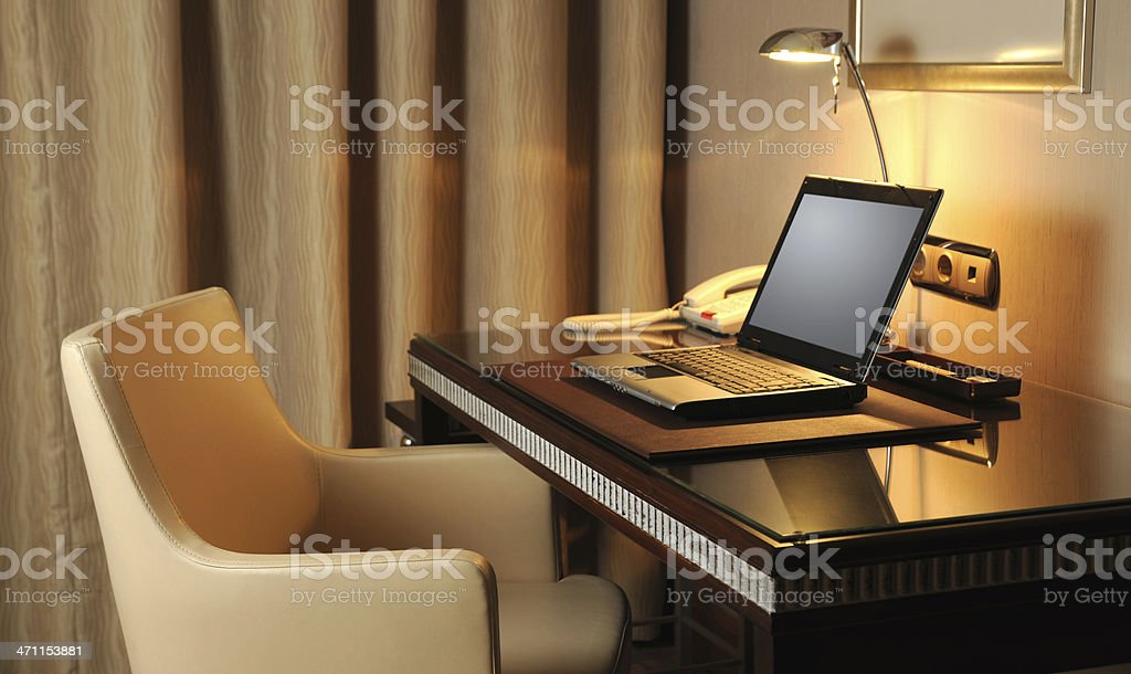 Internet Service in the Hotel Room royalty-free stock photo