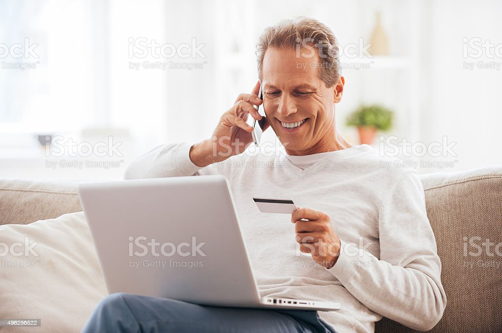 Internet shopping. stock photo