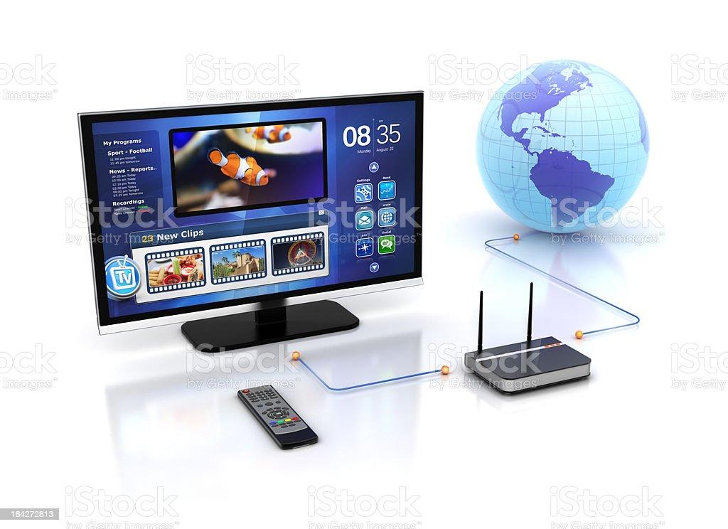 internet smart tv stock photo