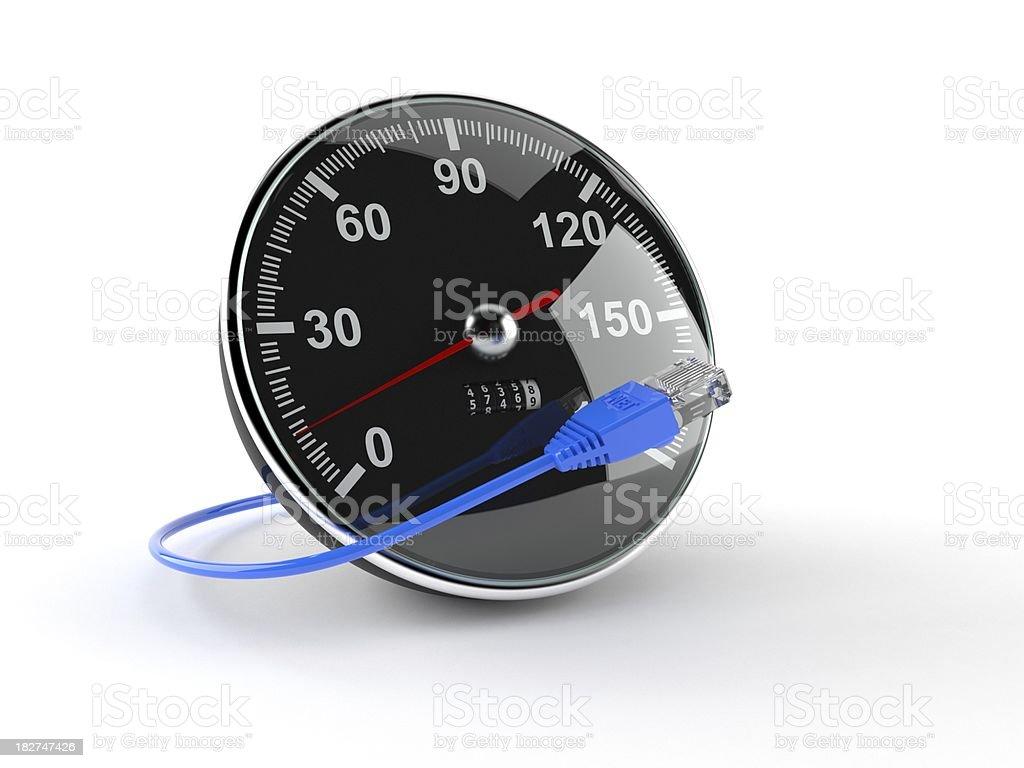 Internet speed royalty-free stock photo