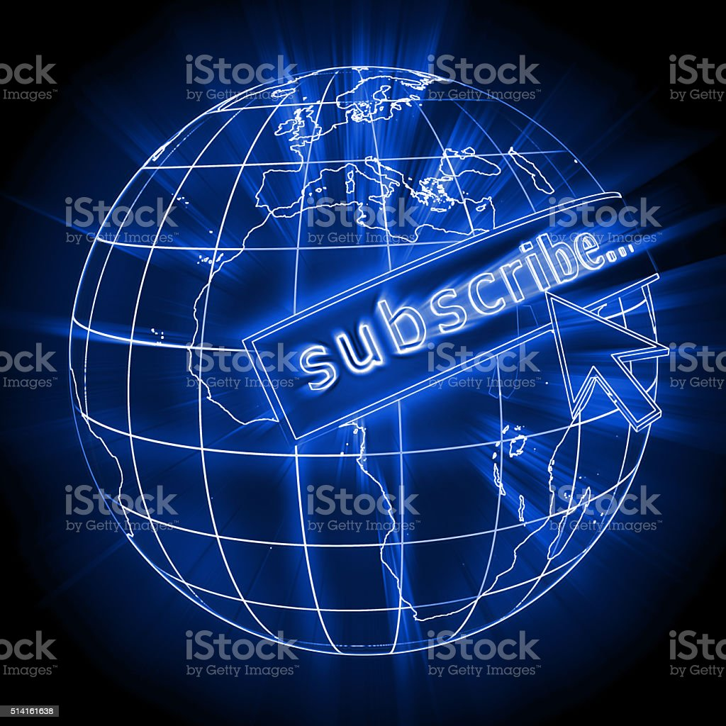 Internet subscribe stock photo