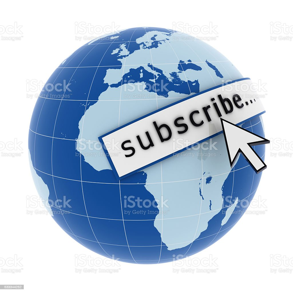 Internet subscribe subscription concept stock photo