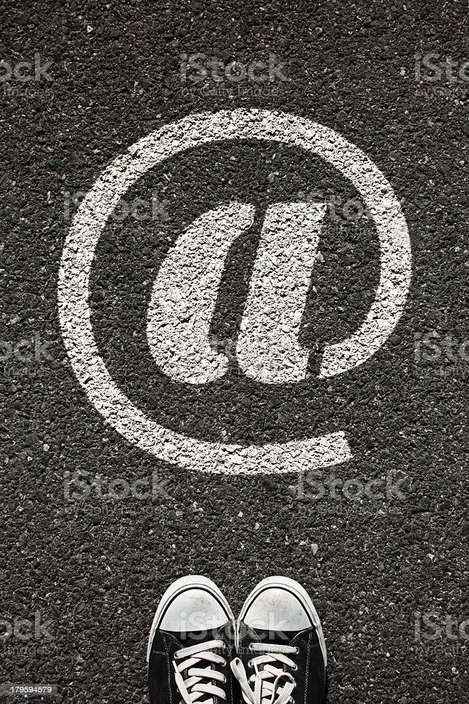 Internet Symbol royalty-free stock photo