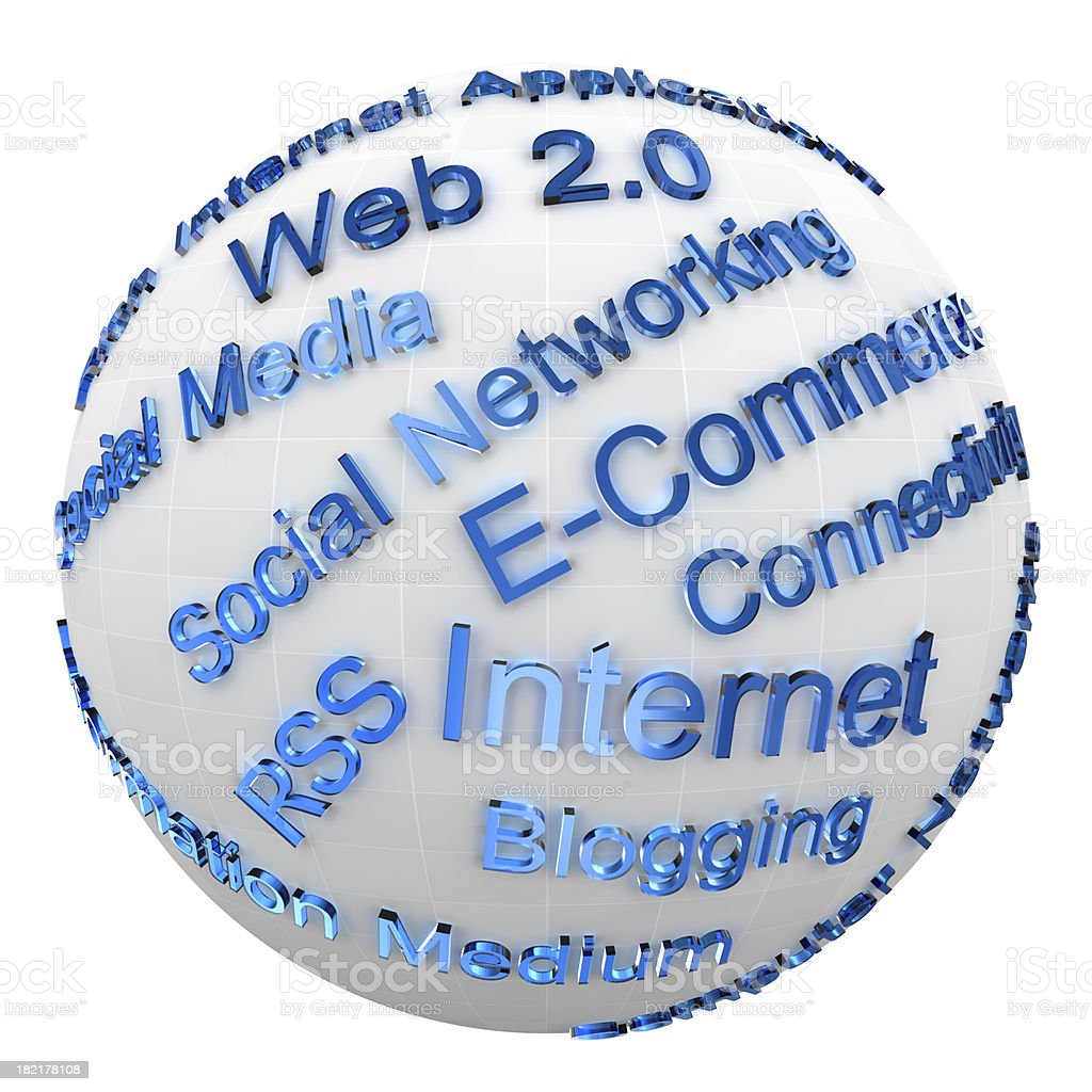 Internet Technology Buzz Words royalty-free stock photo