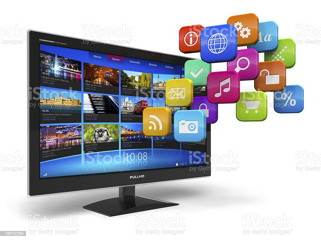 Internet television concept stock photo