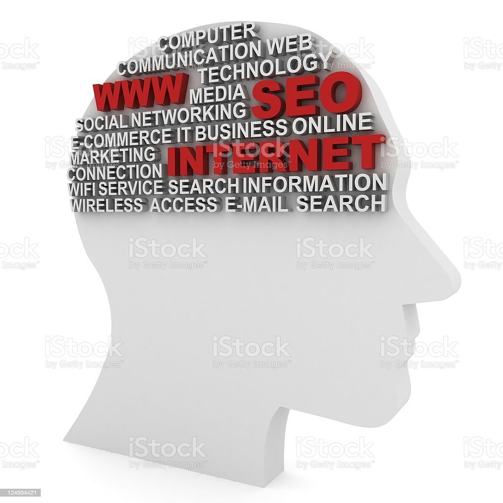 Internet Thinking royalty-free stock photo