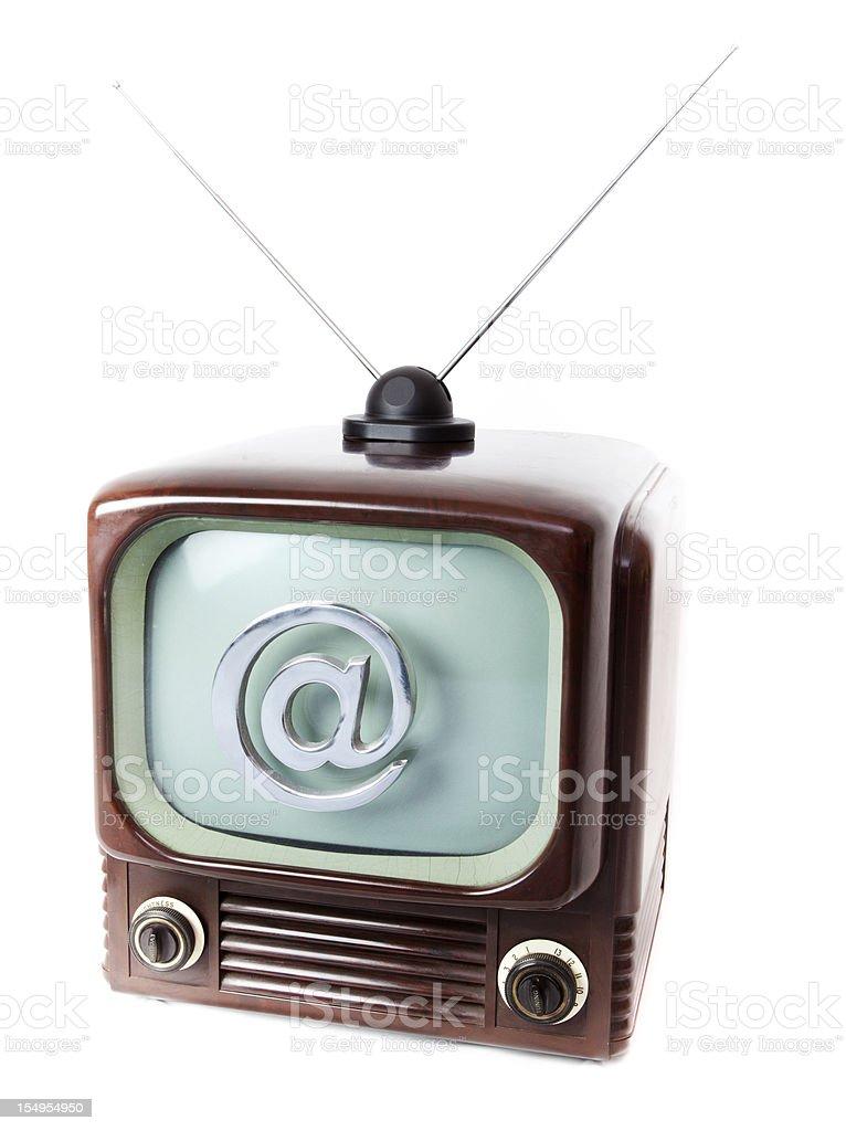 internet tv stock photo