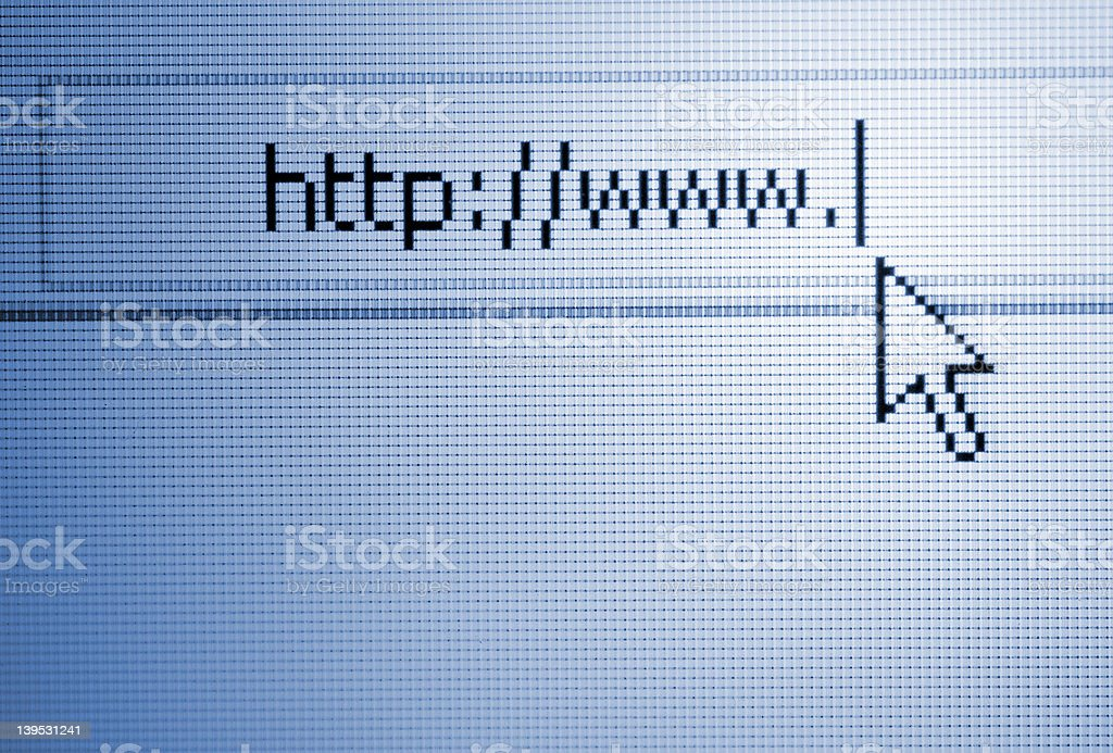 Internet url royalty-free stock photo