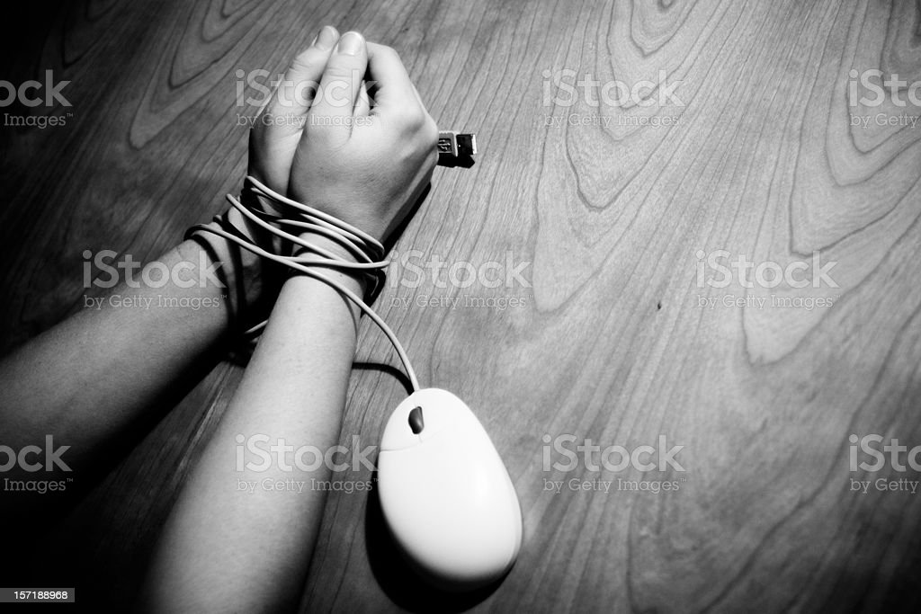 Internet Victim (Horizontal) stock photo