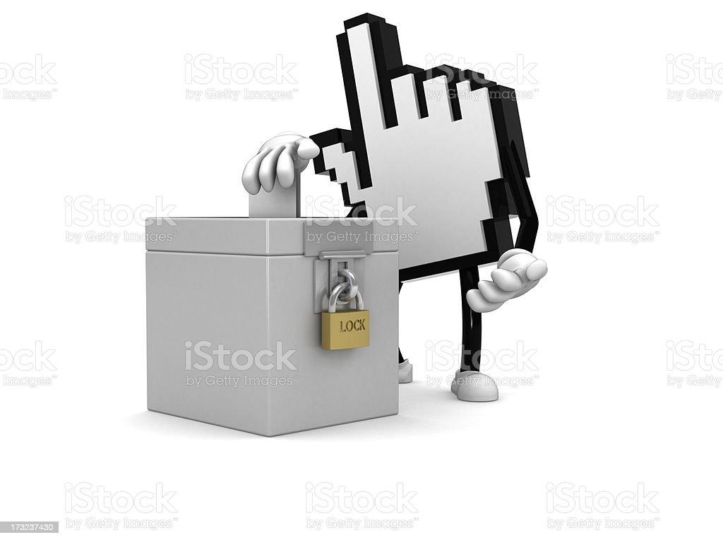 Internet voting royalty-free stock photo