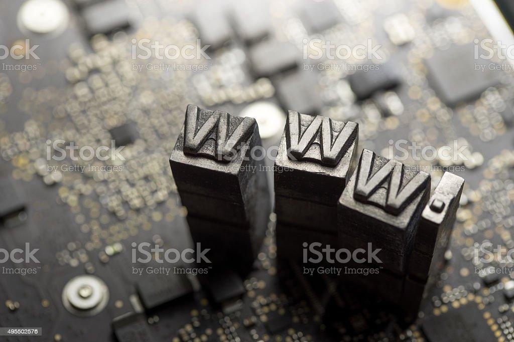 Internet www. website design & .com icon stock photo