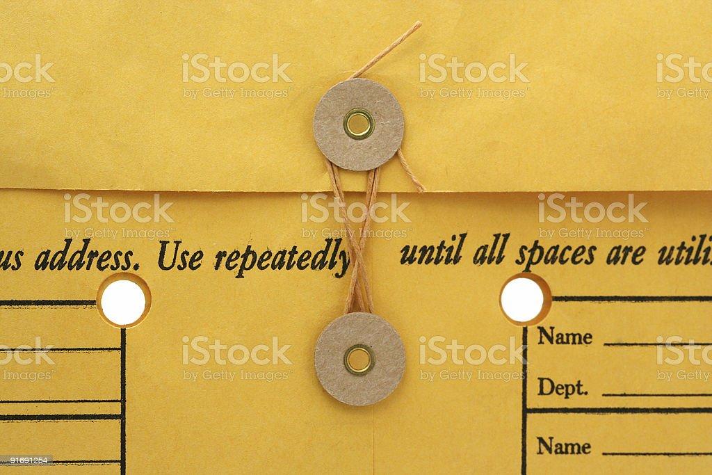 interoffice envelope background stock photo