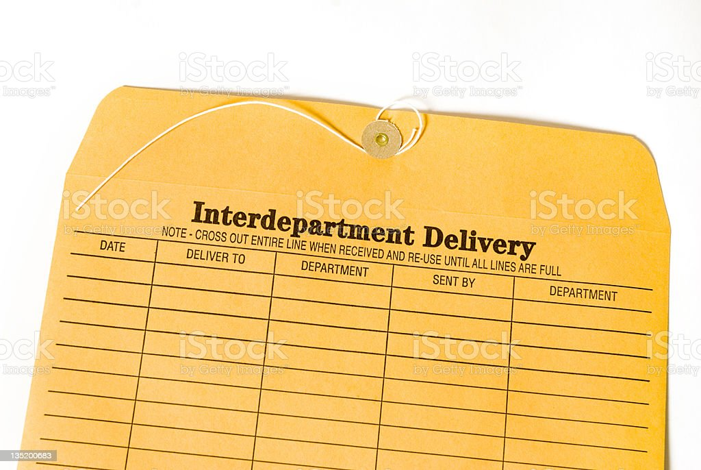 inter-office envelope stock photo
