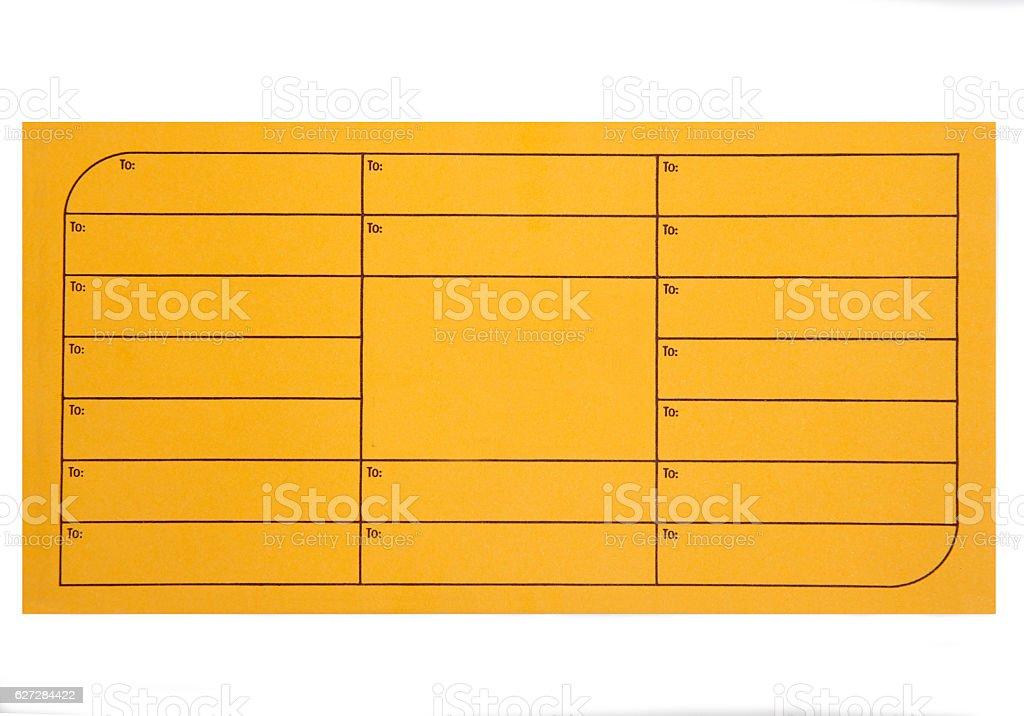 interoffice envelopes stock photo