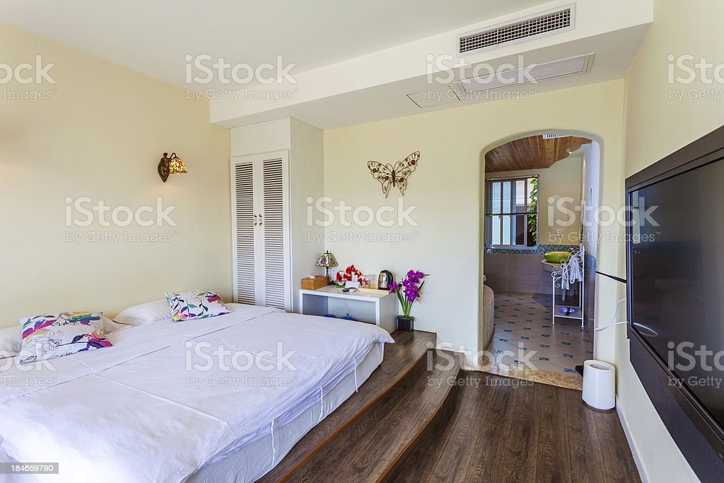 interoir of bedroom royalty-free stock photo