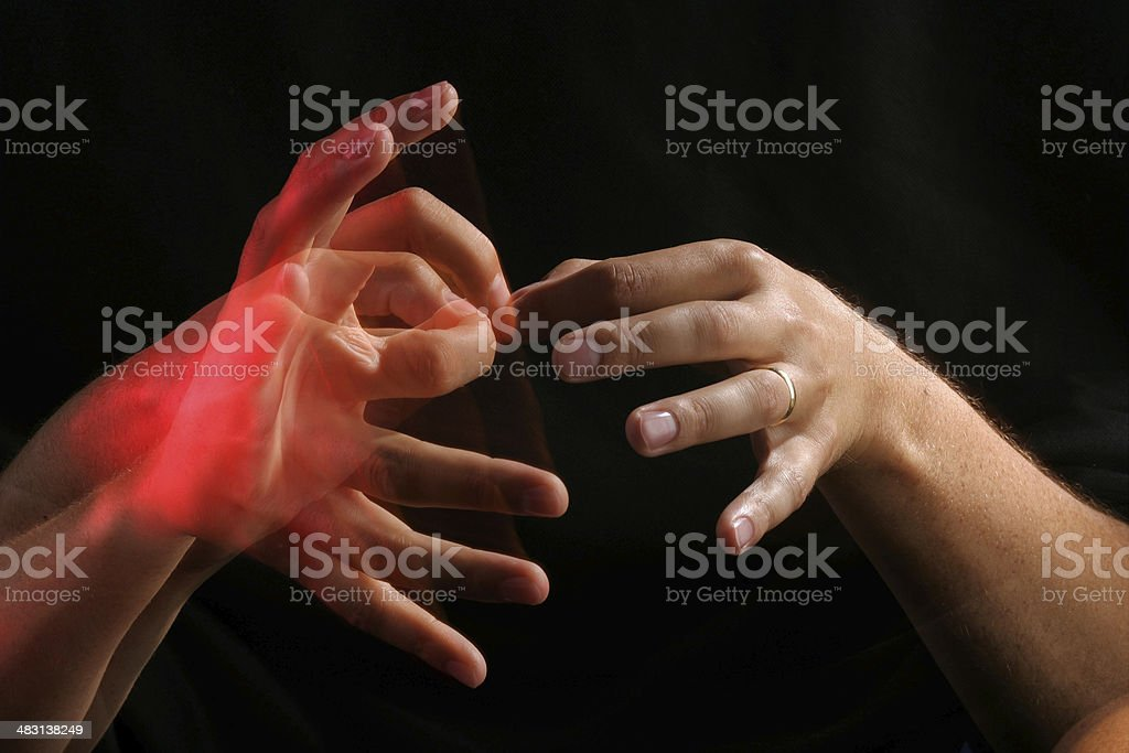 Interpreter in Sign Language stock photo