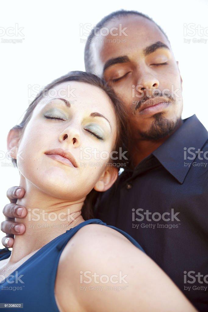 Interracial beauty. royalty-free stock photo